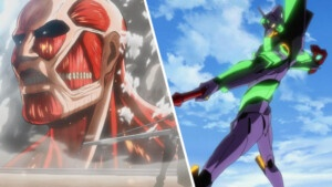 Unit 01 TITAN: An EVA from Evangelion mixed with a Titan from Shingeki no Kyojin and looks scary   EarthGamer