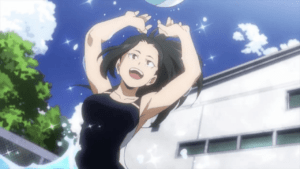My Hero Academia: Italian cosplayer takes Momo Yaoyorozu out of school and takes her to cool off in the pool | Spaghetti Code