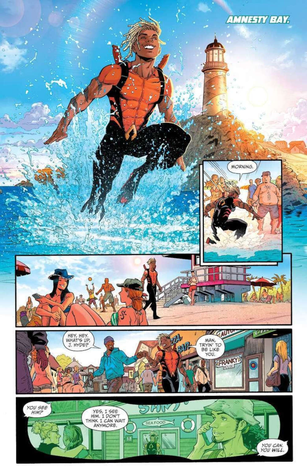 One Piece appeared in the Aquaman comic