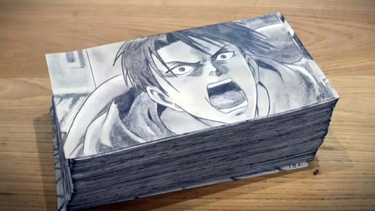 The anime attack on Titan Flipbook took 400 hours to