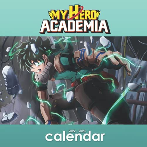 My Hero Academia 2022 Calendar: My Hero Academia 2022 Monthly Planner with 18 Exclusive My Hero Academia Pictures, Monthly Square Anime Manga Calendar from September 2021 to December 2022
