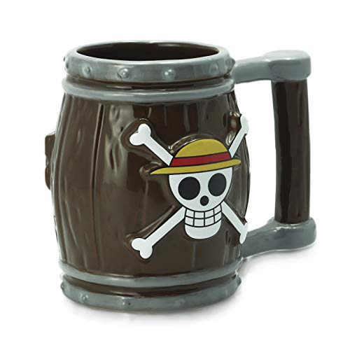ABYstyle - One Piece - Taza 3D - 350 ml - Barril marrón, Z100530