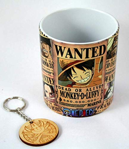 Taza + Llavero - Serie One Piece (New World Wanted)