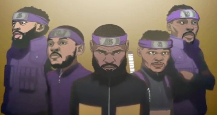 Sports site publishes opening of Naruto Shippuden starring NBA stars in celebration of season 21-22