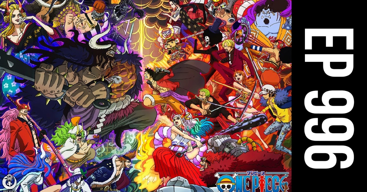 When is the anime One Piece episode 996 coming online?